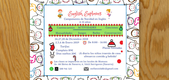 english explorers campamento navidad ingles